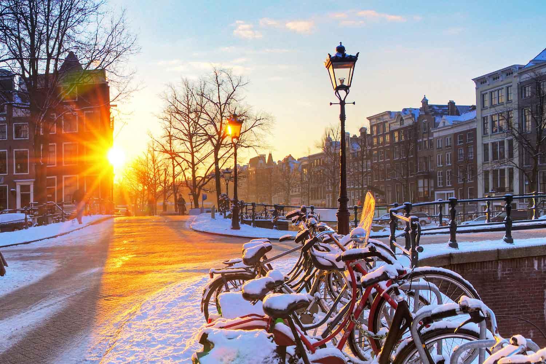 Vintersykling i Amsterdam