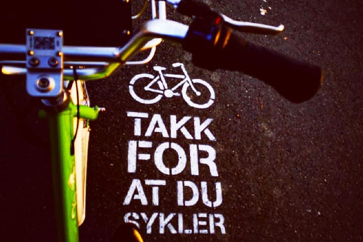 Sykkel på sykkelfelt