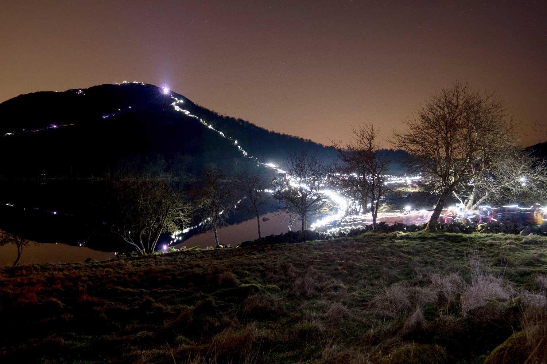 Nattevandring på fjellet
