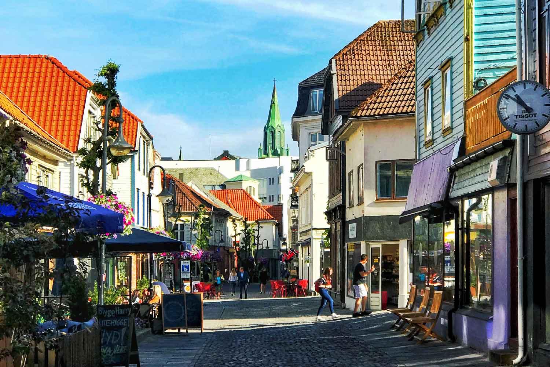 Fargegata i Stavanger